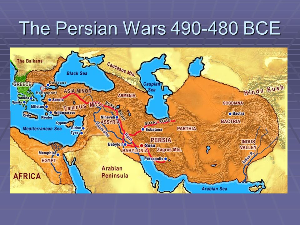 The Persian Wars 490-480 BCE