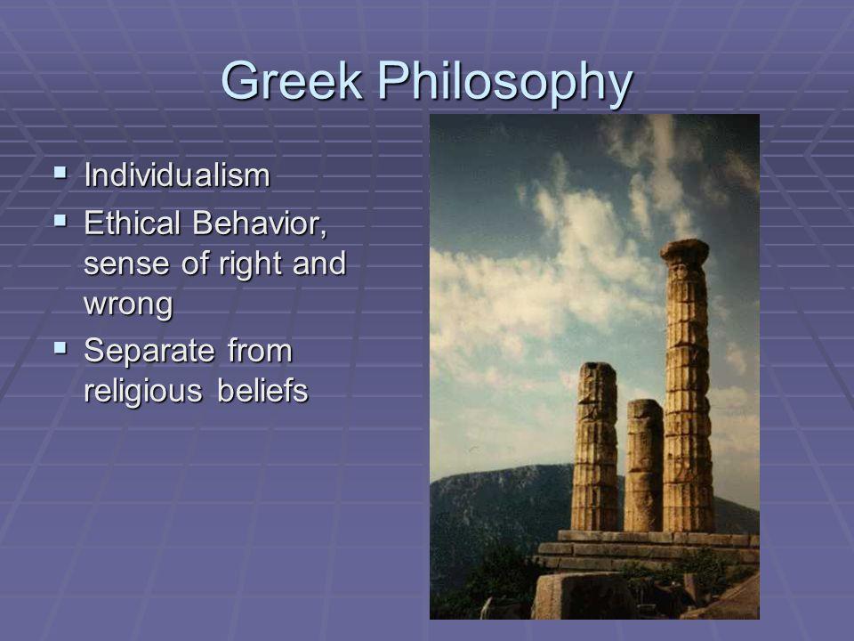 Greek Philosophy Individualism