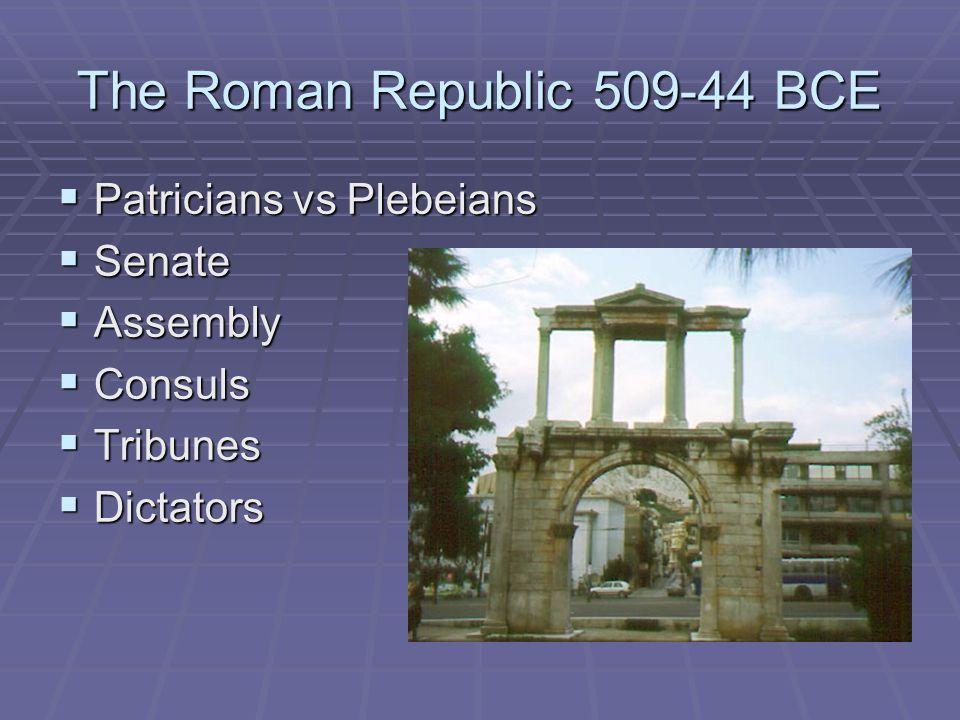 The Roman Republic 509-44 BCE