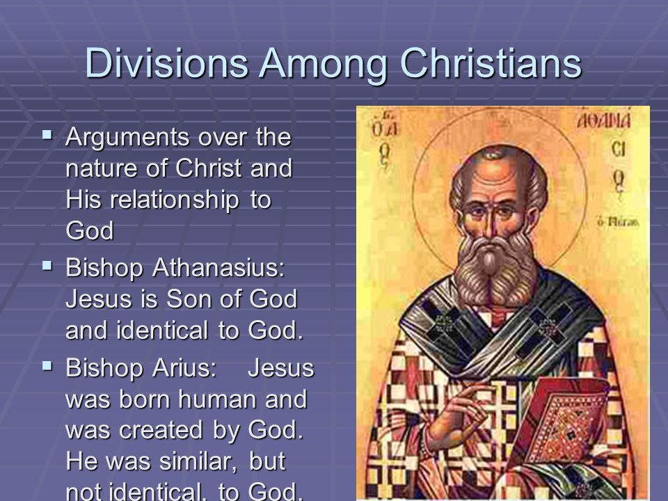 Divisions Among Christians