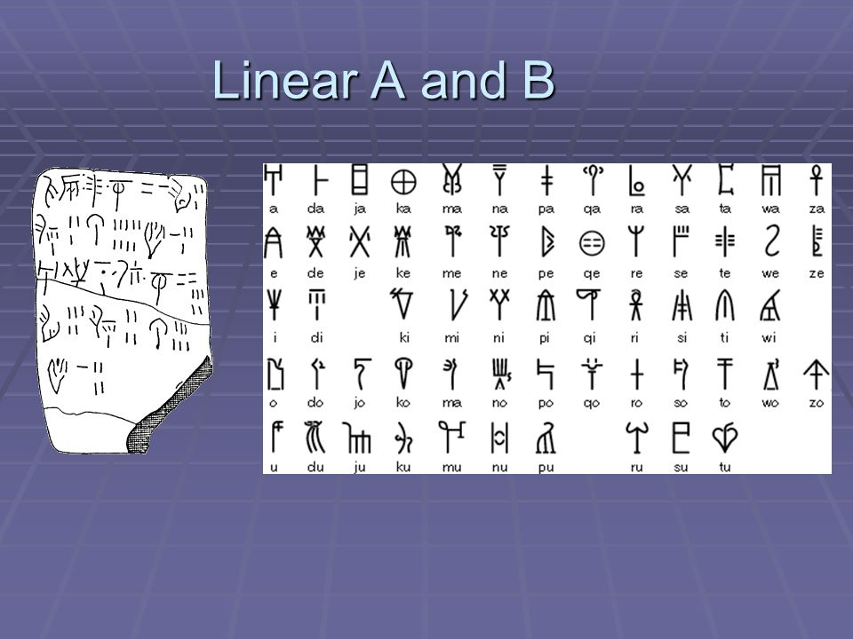 Linear A and B