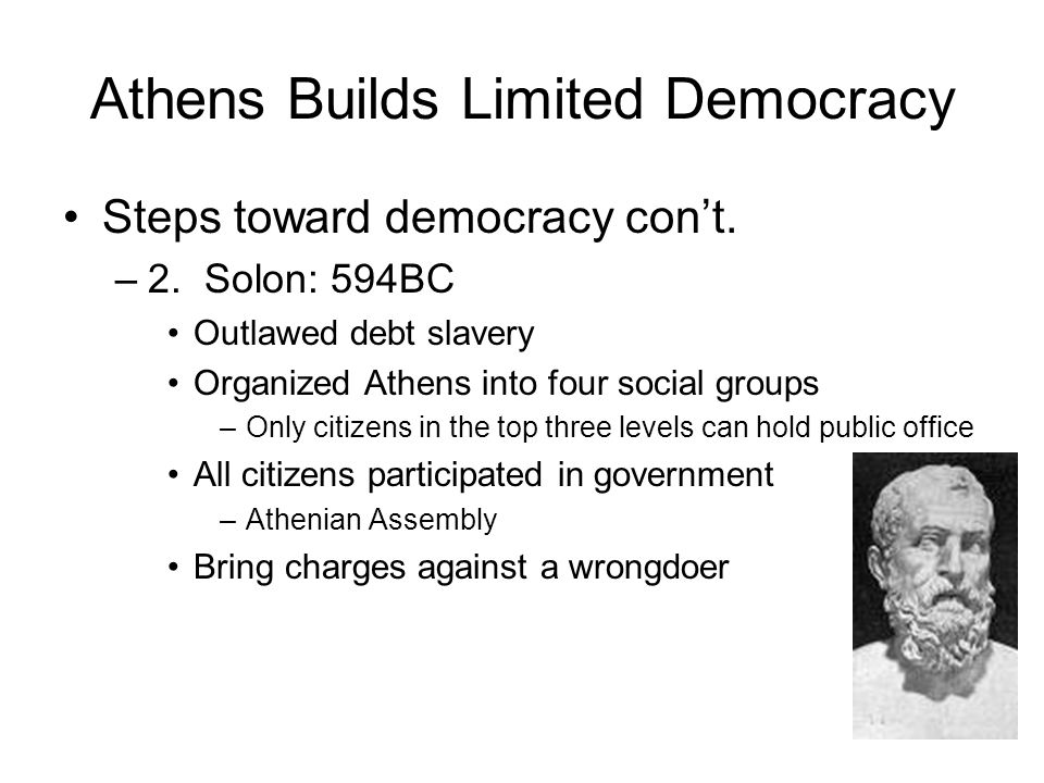 Athens Builds Limited Democracy