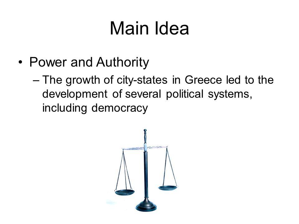 Main Idea Power and Authority