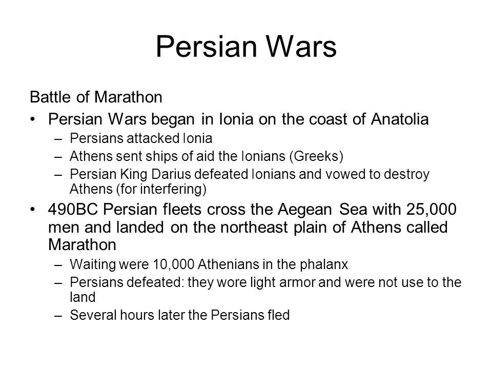 Persian Wars Battle of Marathon