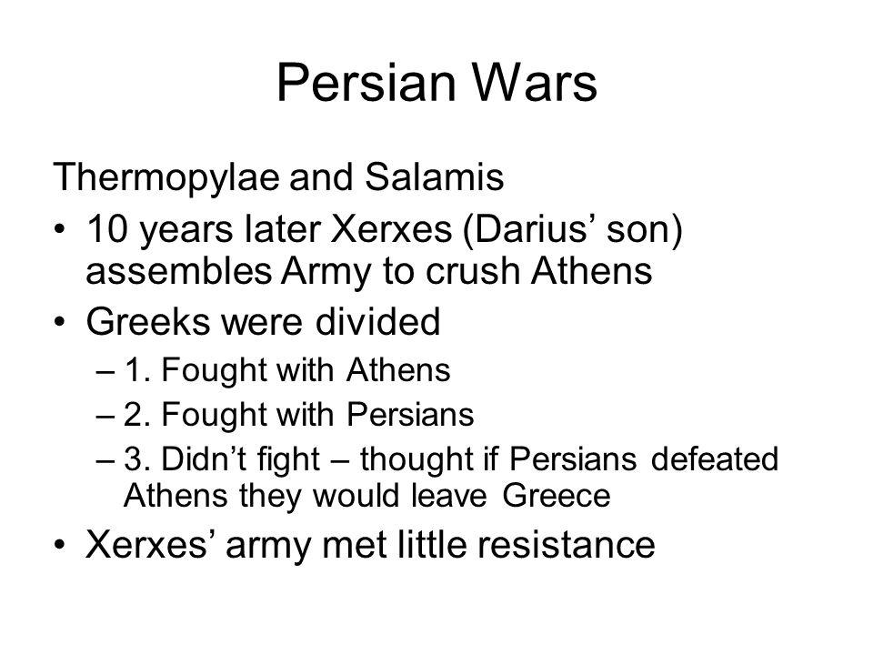Persian Wars Thermopylae and Salamis