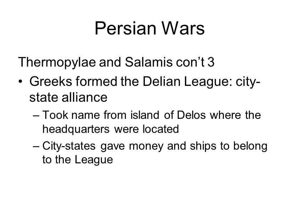 Persian Wars Thermopylae and Salamis con't 3