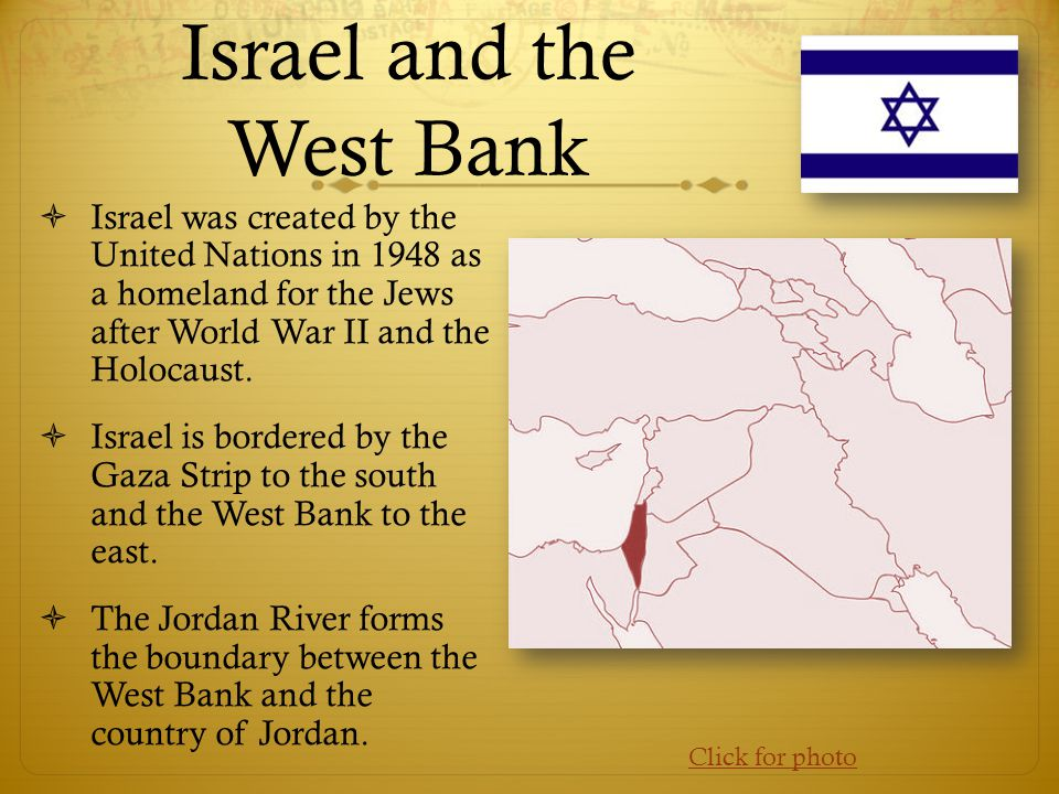 Israel and the West Bank