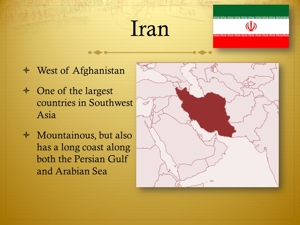 Iran West of Afghanistan