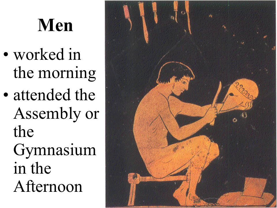 Men worked in the morning