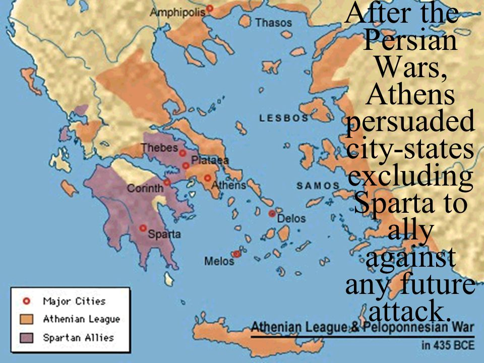 After the Persian Wars, Athens persuaded city-states excluding Sparta to ally against any future attack.