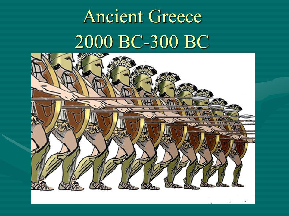 Ancient Greece 2000 BC-300 BC