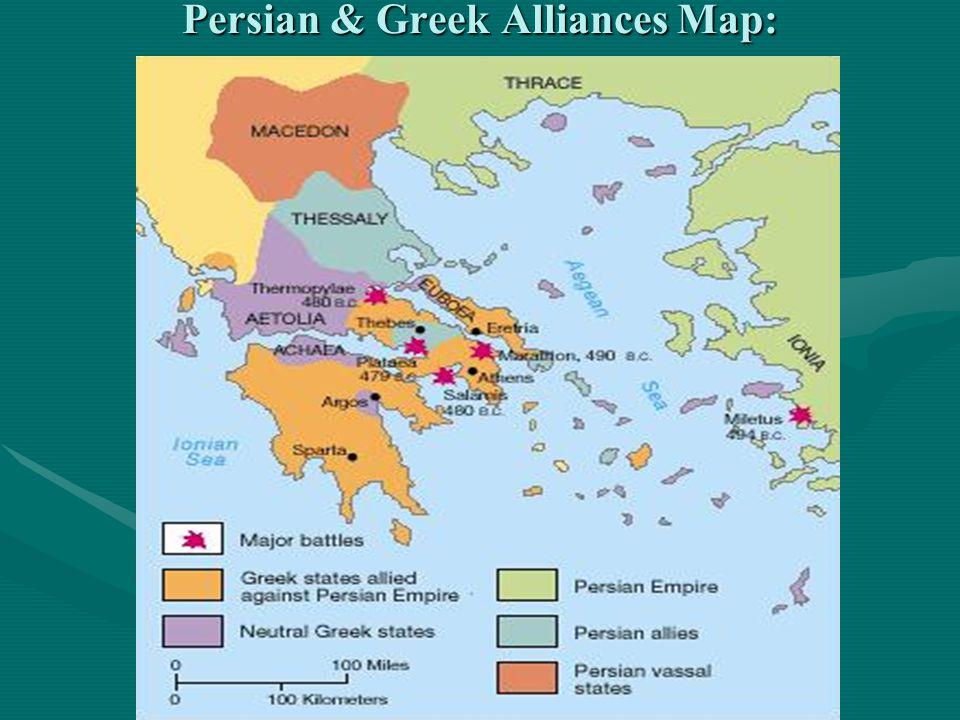Persian & Greek Alliances Map: