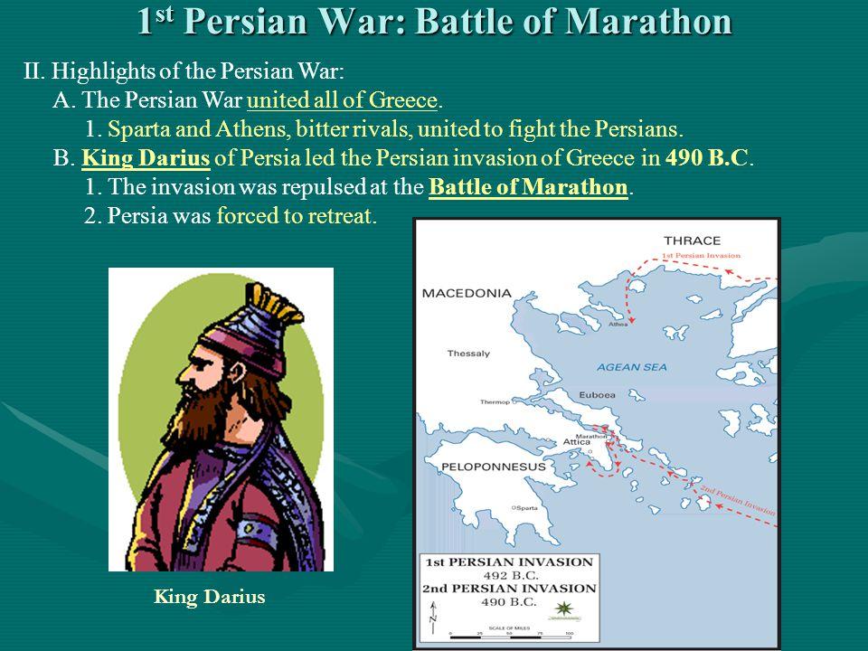 1st Persian War: Battle of Marathon