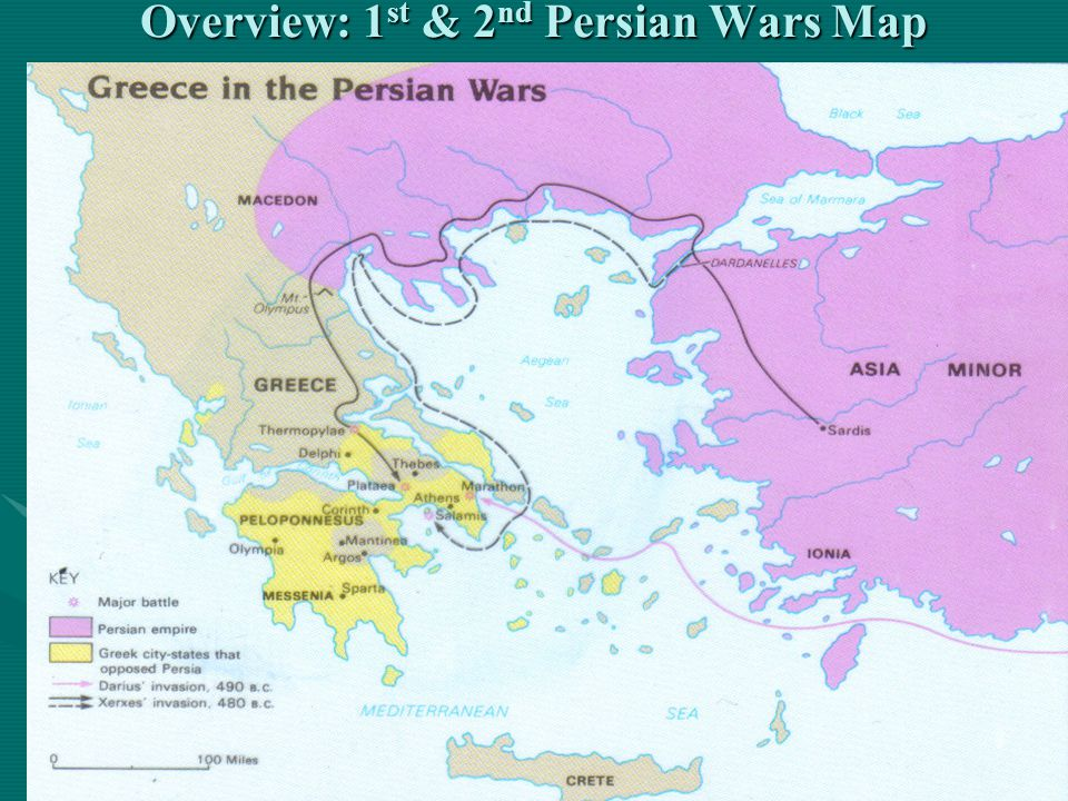 Overview: 1st & 2nd Persian Wars Map