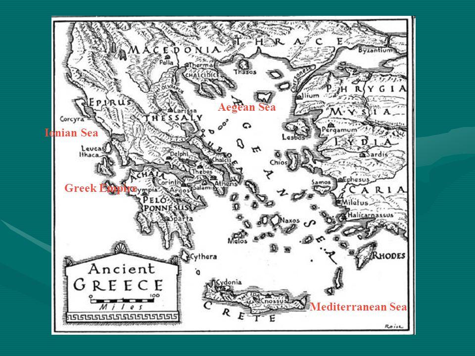 Aegean Sea Ionian Sea Greek Empire Mediterranean Sea