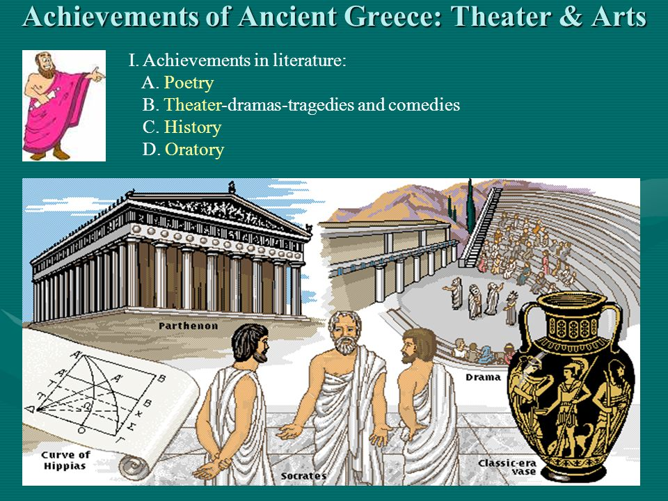 Achievements of Ancient Greece: Theater & Arts
