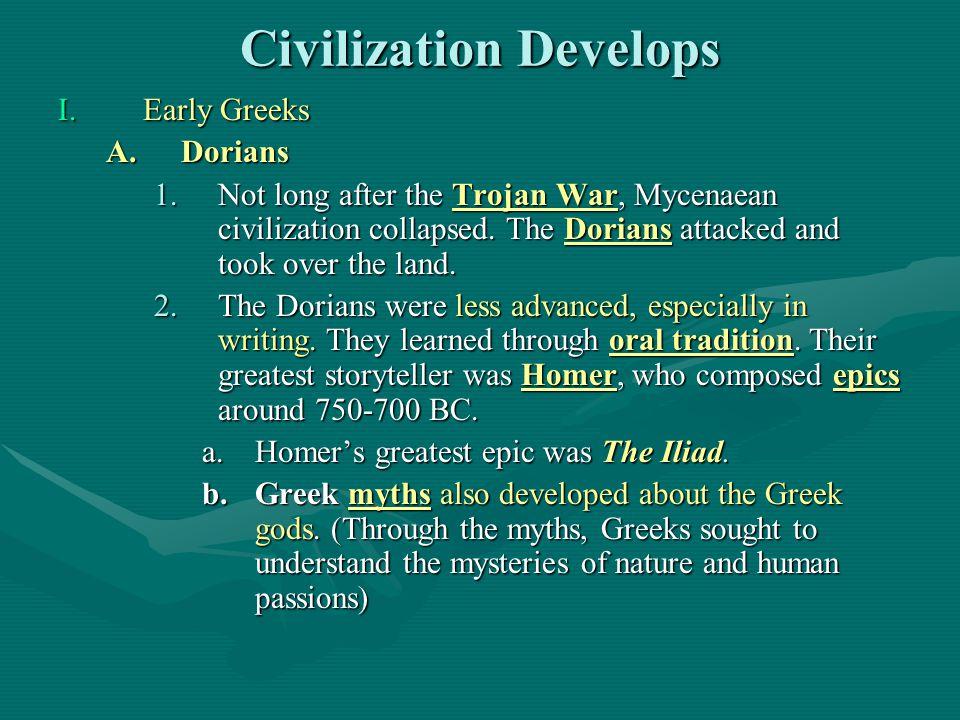 Civilization Develops