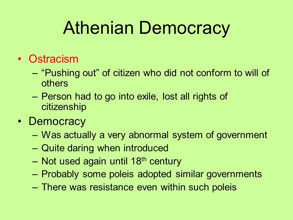 Athenian Democracy Ostracism Democracy