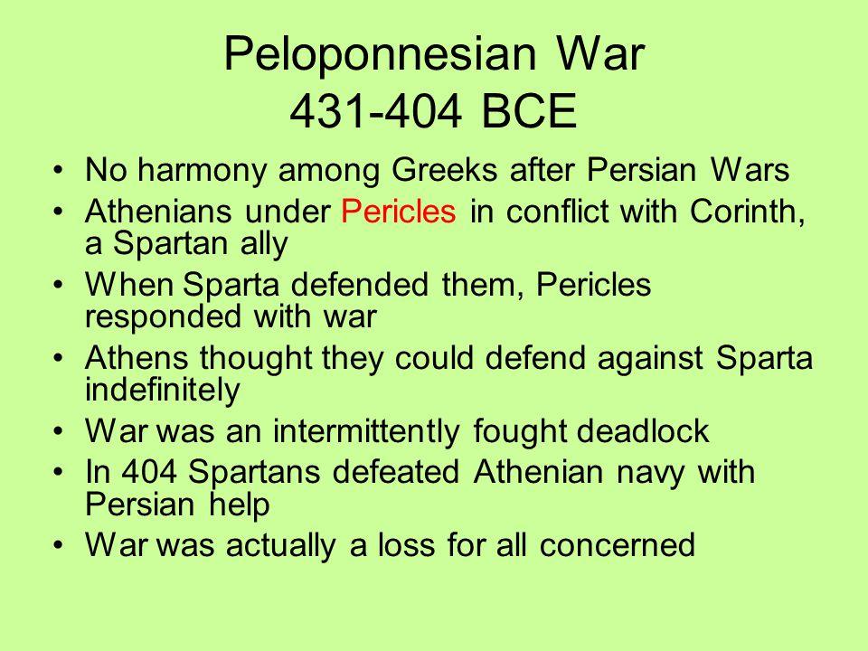 Peloponnesian War 431-404 BCE