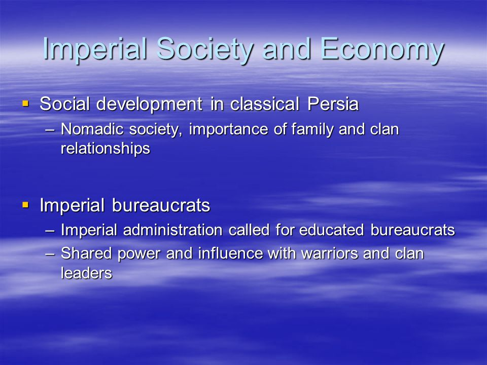 Imperial Society and Economy