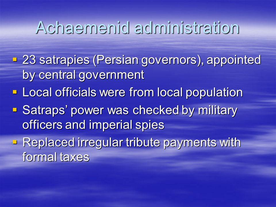 Achaemenid administration