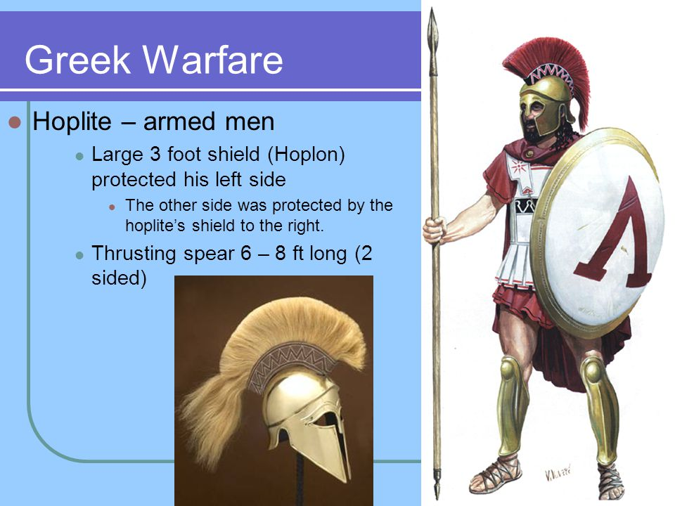 Greek Warfare Hoplite – armed men