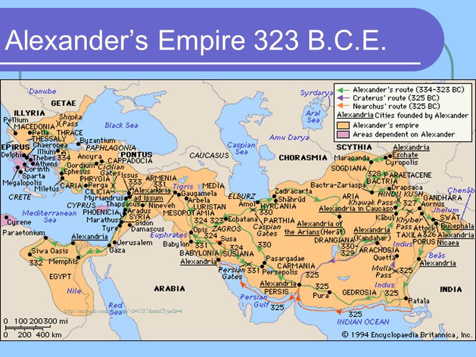 Alexander's Empire 323 B.C.E.