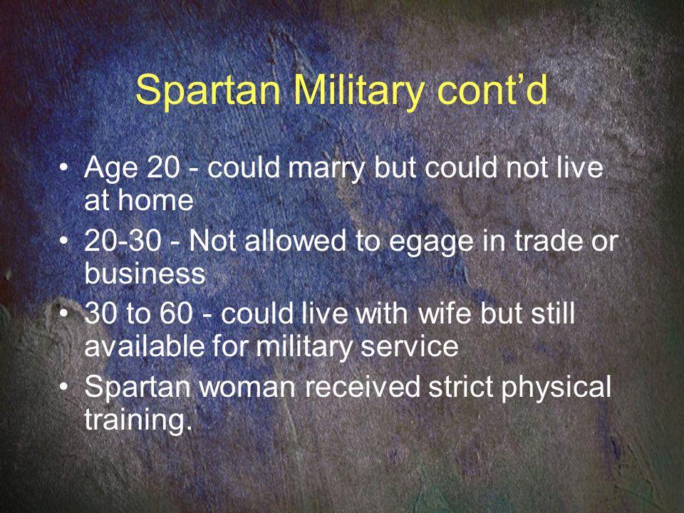 Spartan Military cont'd