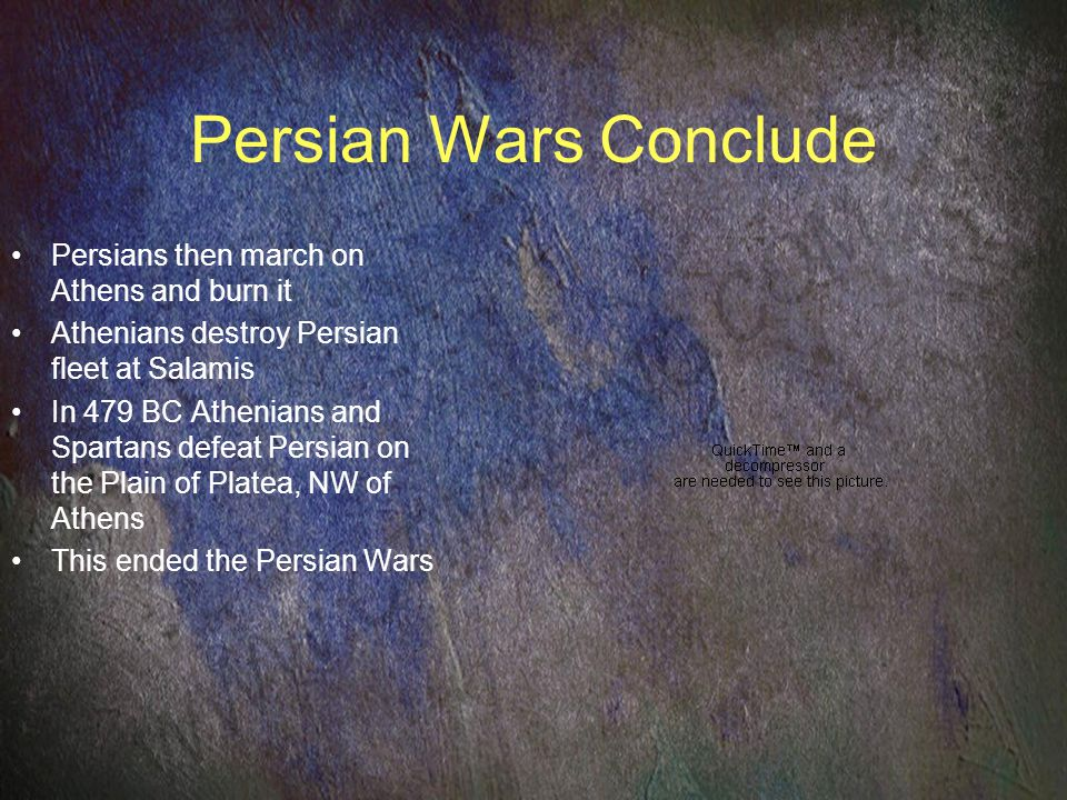 Persian Wars Conclude Persians then march on Athens and burn it