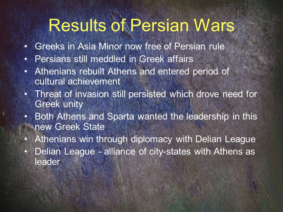 Results of Persian Wars