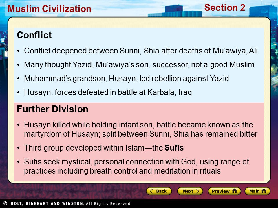 Conflict Further Division