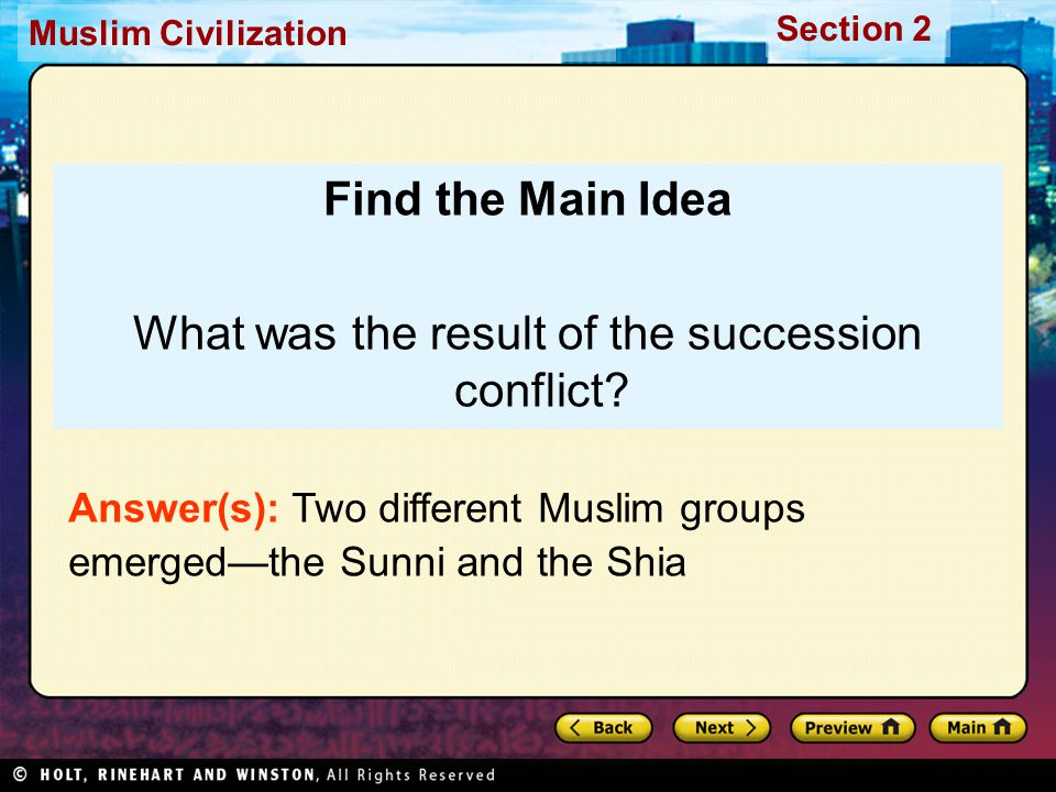 What was the result of the succession conflict