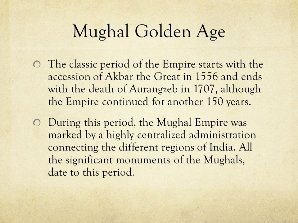 Mughal Golden Age