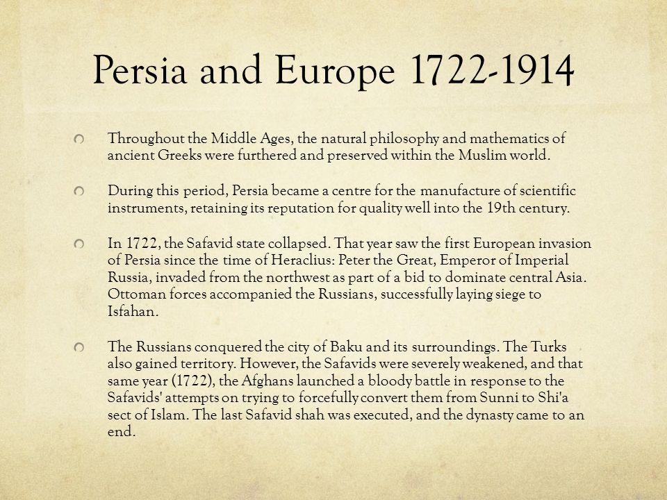 Persia and Europe 1722-1914