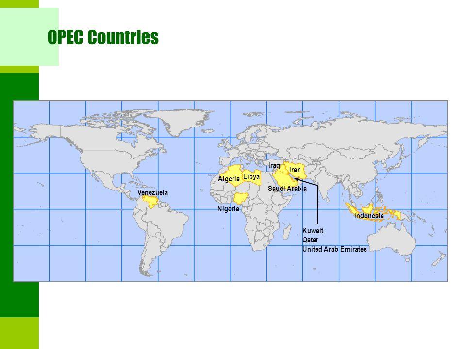 OPEC Countries Iraq Iran Libya Algeria Saudi Arabia Venezuela Nigeria