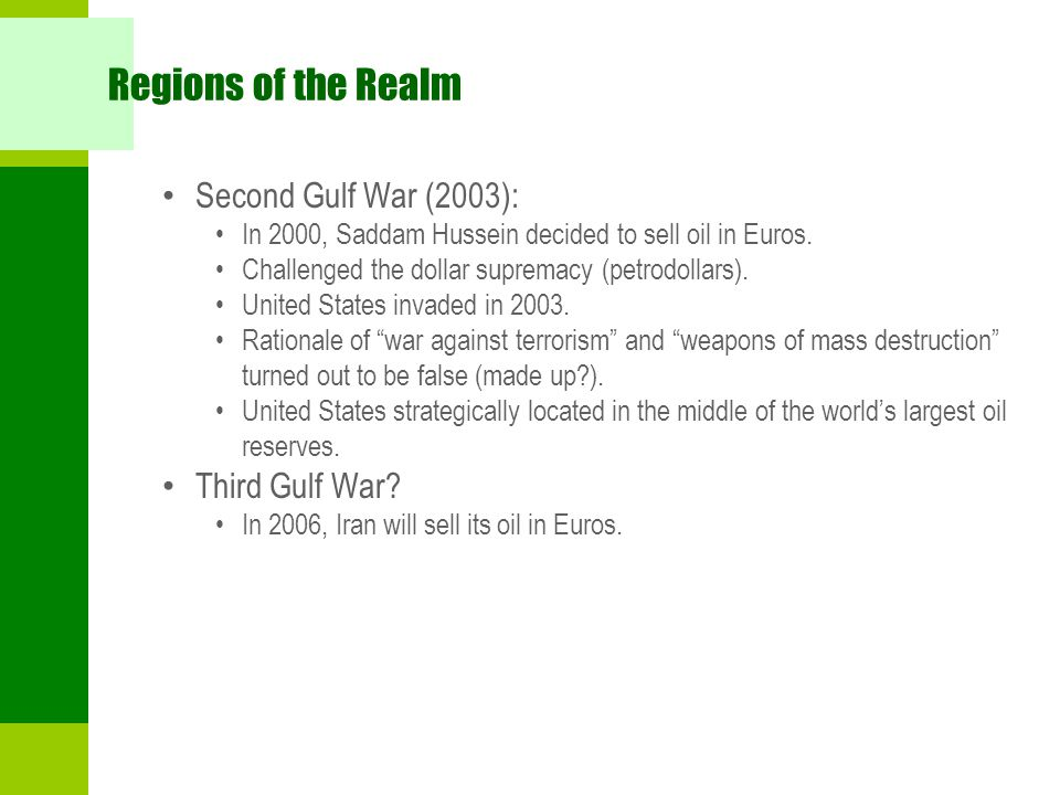 Regions of the Realm Second Gulf War (2003): Third Gulf War