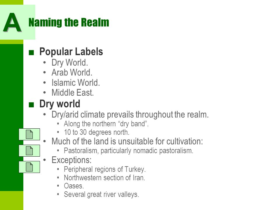 A Naming the Realm Popular Labels Dry world Dry World. Arab World.