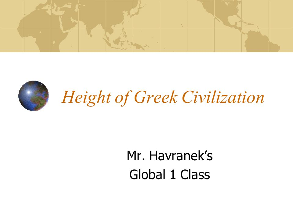 Height of Greek Civilization