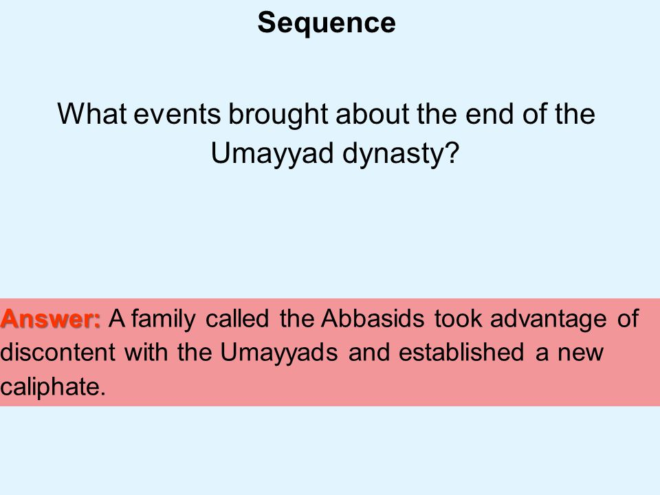 What events brought about the end of the Umayyad dynasty