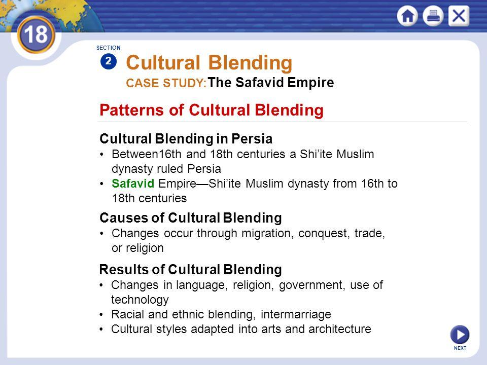 Cultural Blending Patterns of Cultural Blending