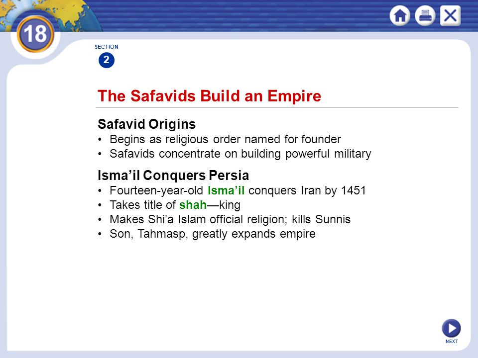 The Safavids Build an Empire
