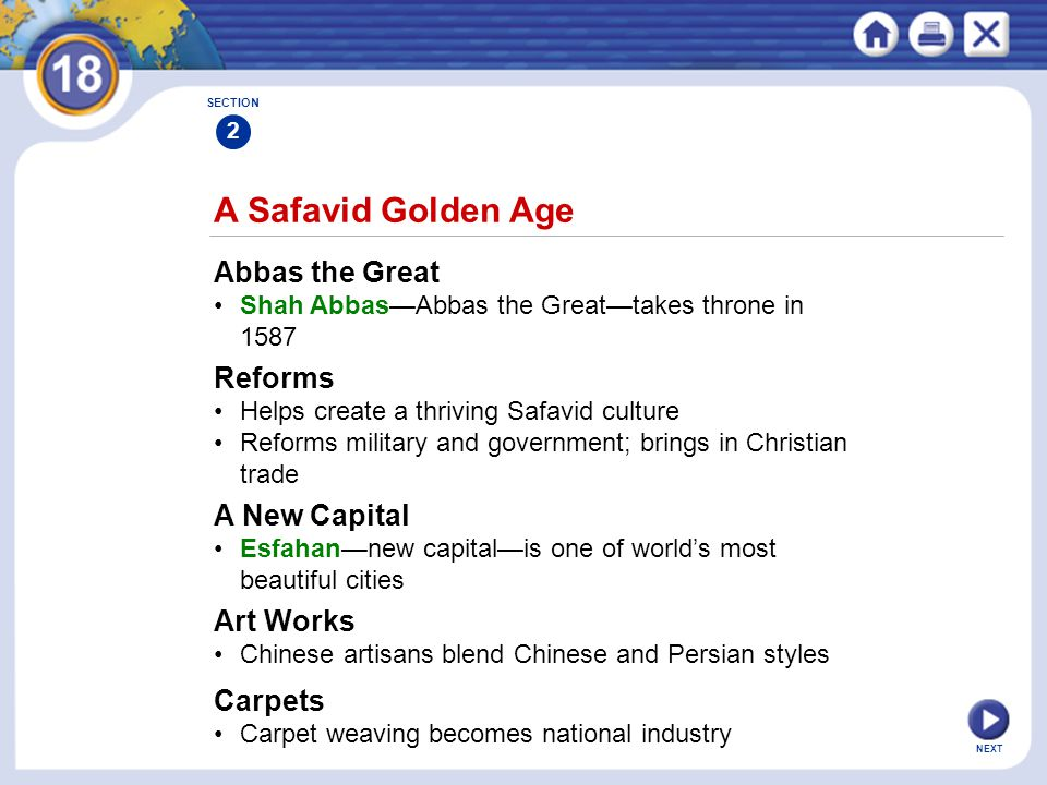 A Safavid Golden Age Abbas the Great Reforms A New Capital Art Works