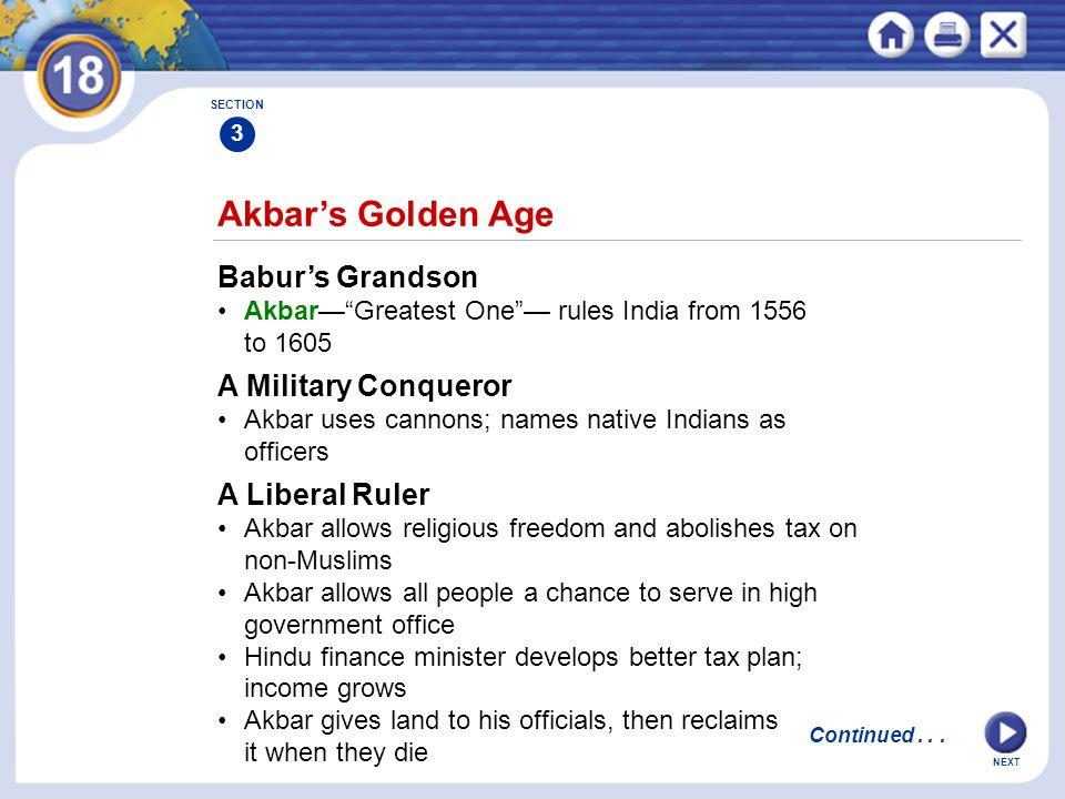 Akbar's Golden Age Babur's Grandson A Military Conqueror