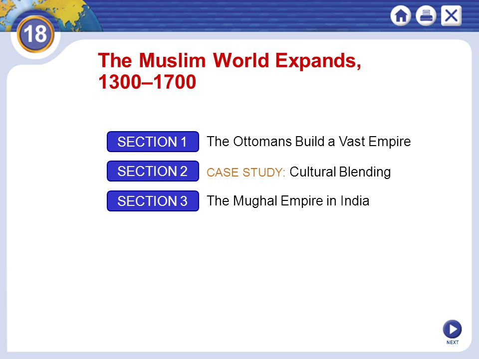 The Muslim World Expands, 1300–1700