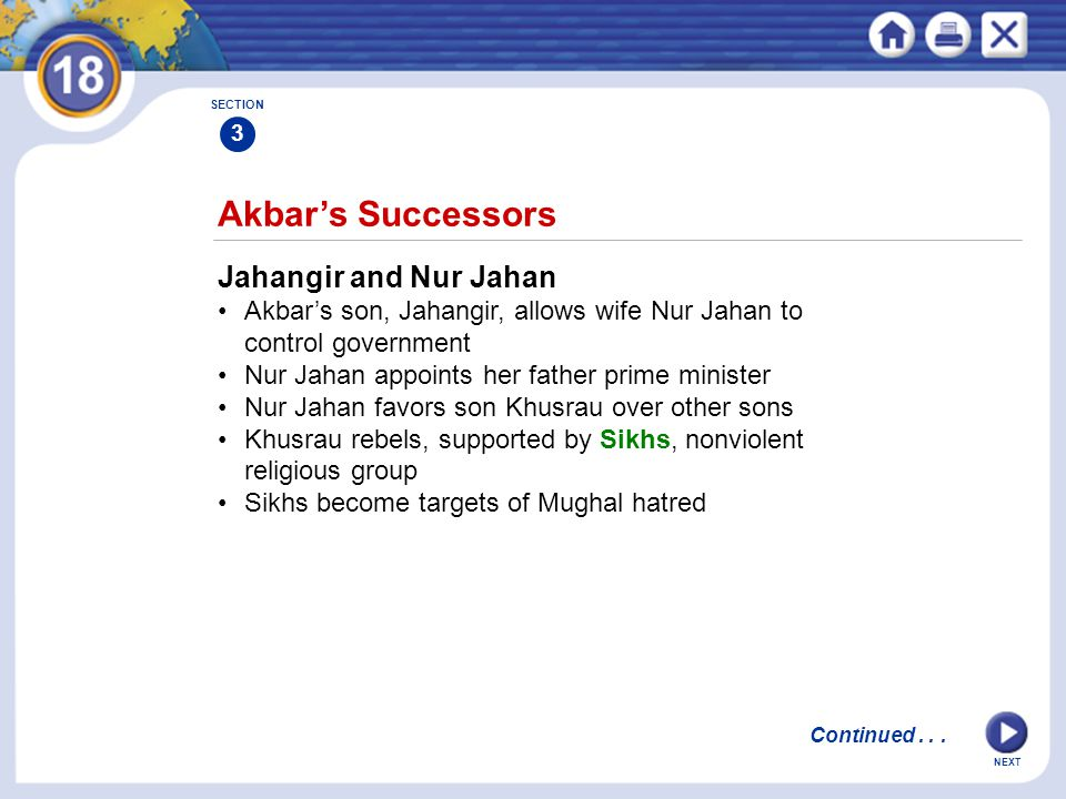 Akbar's Successors Jahangir and Nur Jahan