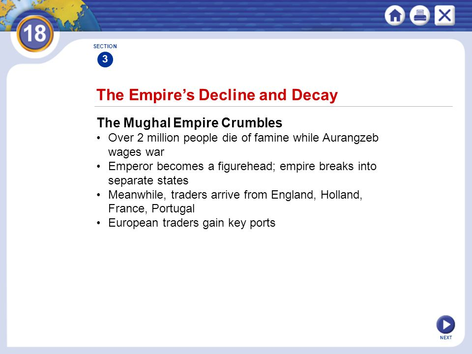 The Empire's Decline and Decay