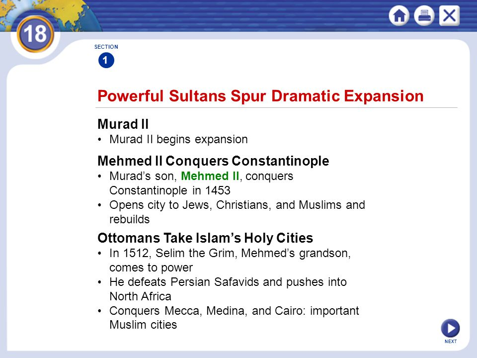 Powerful Sultans Spur Dramatic Expansion