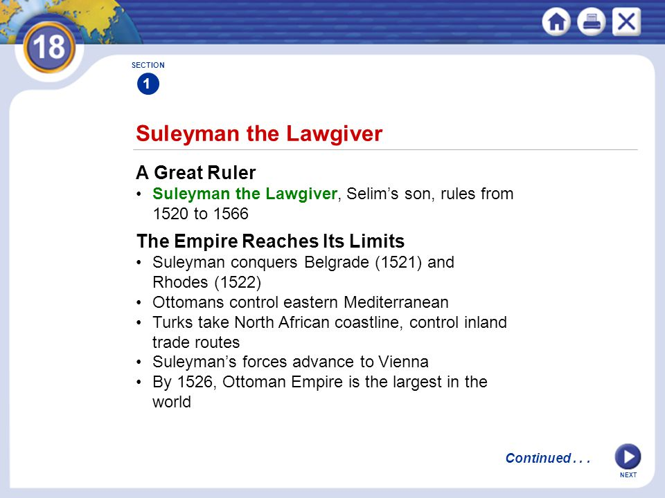 Suleyman the Lawgiver A Great Ruler The Empire Reaches Its Limits
