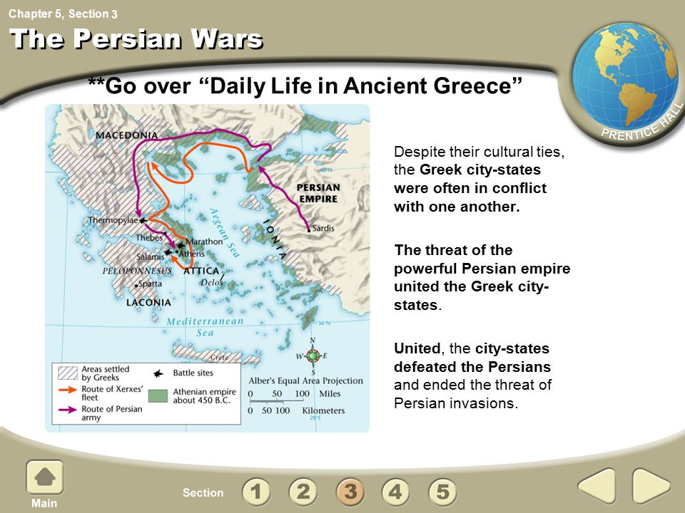 The Persian Wars **Go over Daily Life in Ancient Greece