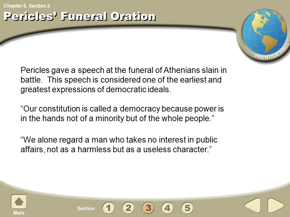 Pericles' Funeral Oration
